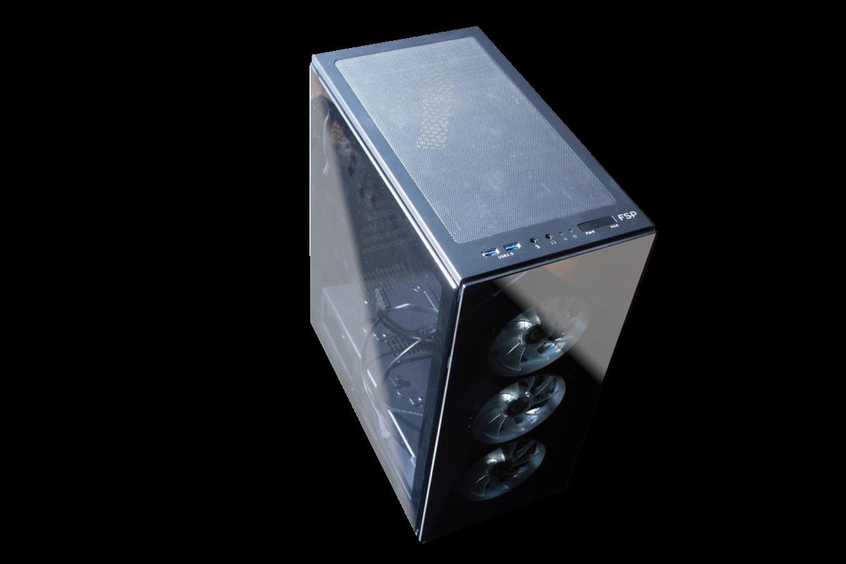 Необычный корпус FSP CMT340: для игр или майнинга?